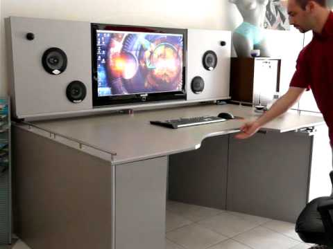 Bureau high tech sur mesure solution31 youtube for Bureau meuble pc gamer