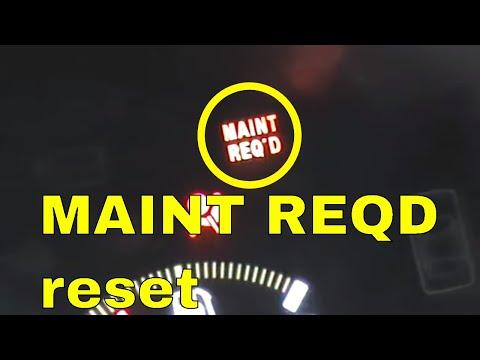 Honda Accord Hybrid Maint Reqd Light Reset Maintenance Required