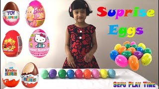 Easter huge Surprise eggs with surprise toys. Kids can also learn colors with Sefu Play Time. thomas