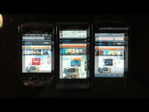 BB Torch Droid 2 iPhone 4 Comparison
