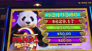 "New Slot ""PANDA"" and ""PYRAMID Progressives"" First Attempt, Barona Casino, Akafujislot, カルフォルニア, スロット"