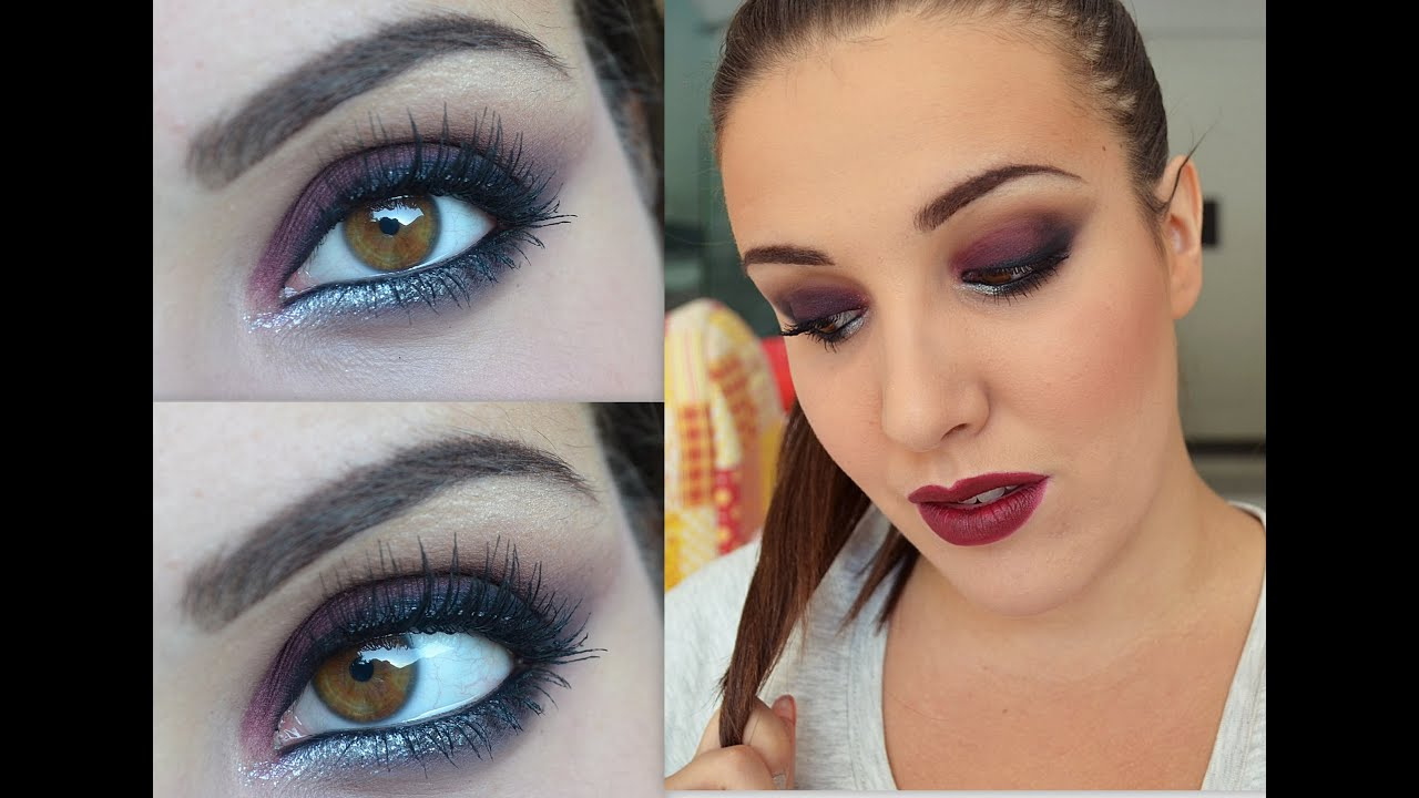 Bordeaux Smokey Eyes Make Up Look Youtube