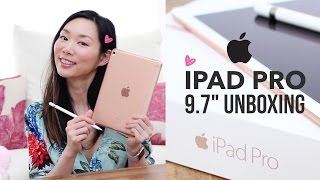 Apple IPAD Pro 9.7 Review & Unboxing | ROSE GOLD & Apple Pencil
