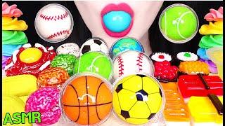 ASMR BASKETBALL GUMMY, BASEBALL GUMMY, TENNIS BALL GUMMY JELLY 농구공 젤리, 야구공 젤리 먹방 JANE ASMR 제인