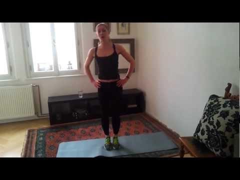 20 minutové cvičení na nohy