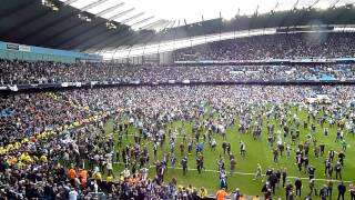 Manchester City v West Ham 12th May 2014 - End of match and pitch invasion