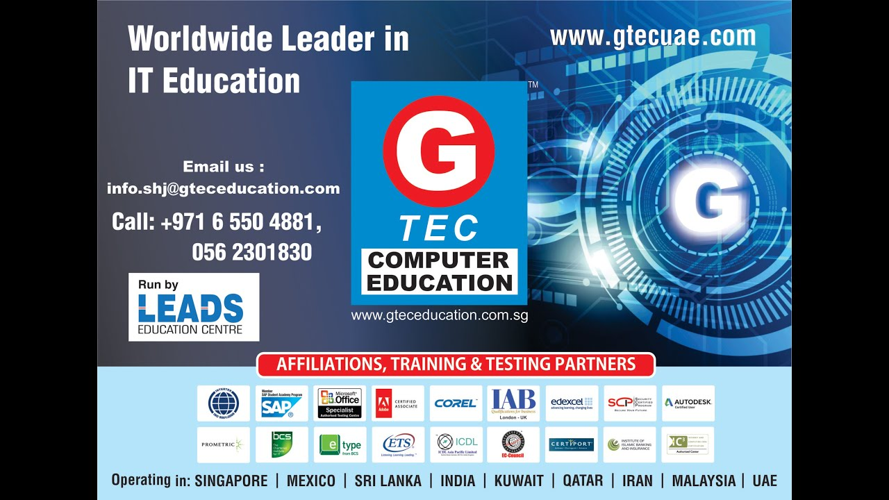 gtec computer education courses  GTEC Computer Education THE WORLD LEADER IN IT EDUCATION - YouTube