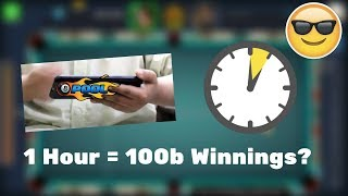 How Many Winnings can i get in 1 Hour? - 8 Ball Pool Experiment [No Hack/Cheat]