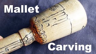 A Maple Carver's Carving Mallet W/ Epoxy Inlay (project 14)