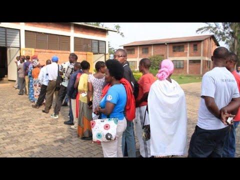 Rwanda ouverture des bureaux de vote pour les législatives youtube