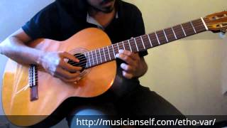 How to Sree raga on guitar - etho vaarmukilin Part II ninnilam chundil