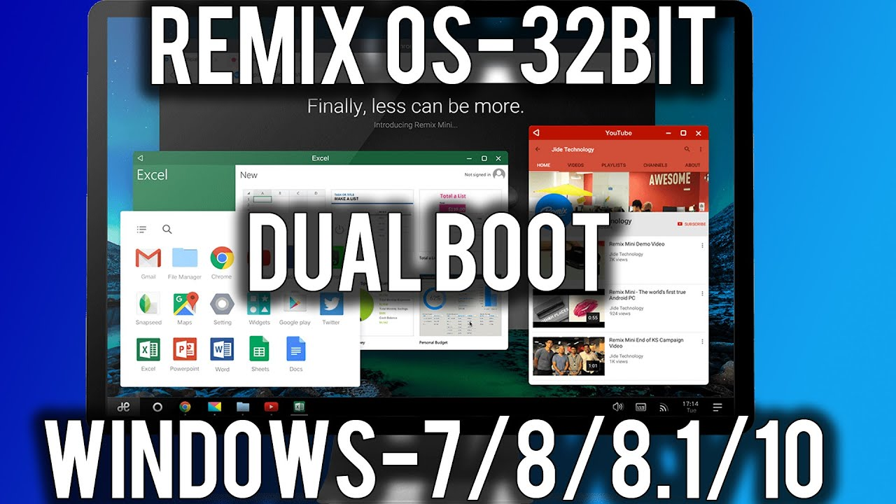 How to Install Remix OS 32-bit (Dual Boot Windows7/8/8 1/10)[legacy]!