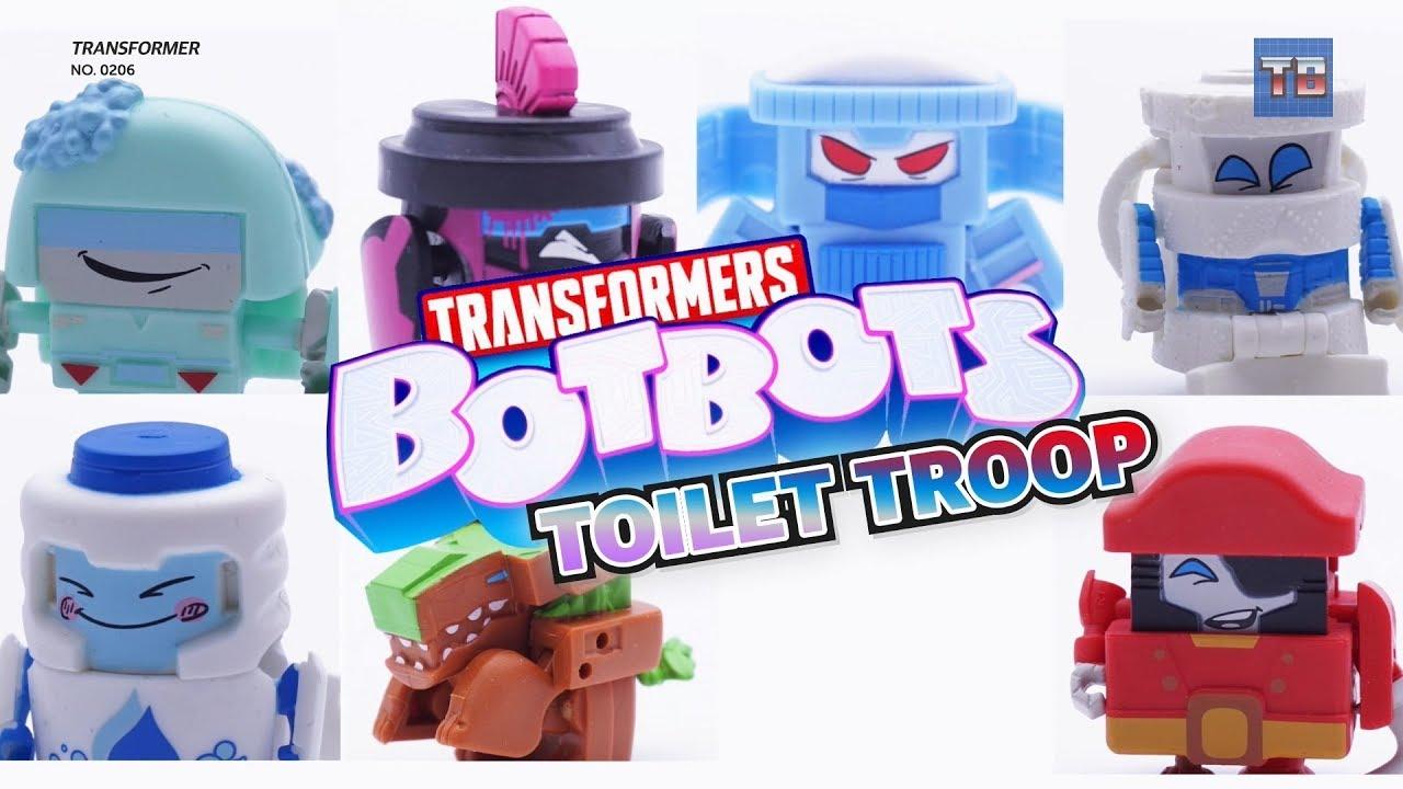 Transformers Botbots Series 1 Toilet Troop Sergeant Scrubadub Figure New