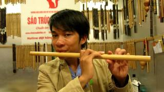 Hướng dẫn thổi sáo bài  Giấc Mơ Trưa ( sáo LA trầm)