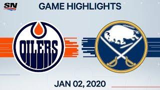 NHL Highlights   Oilers vs. Sabres - Jan. 2, 2020