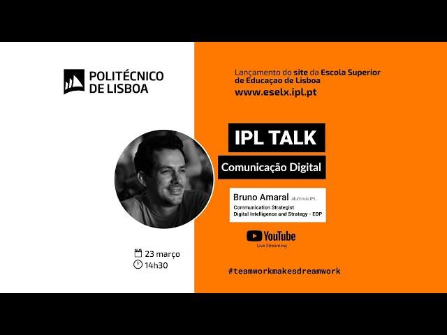 Lançamento site ESELx | IPL Talk com Bruno Amaral