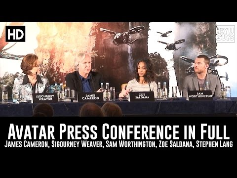 Avatar Press Conference In Full - James Cameron, Sigourney Weaver (2009) | HeyUGuys