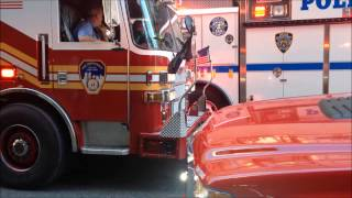 FDNY RESCUE 1 TAKING UP AFTER DEADLY CONSTRUCTION ACCIDENT ON W. 37TH ST. IN MIDTOWN, MANHATTAN.