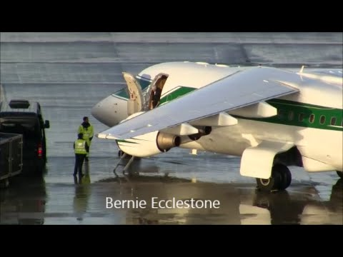(Live ATC) Bernie Ecclestone's private Jet at Zürich-Kloten