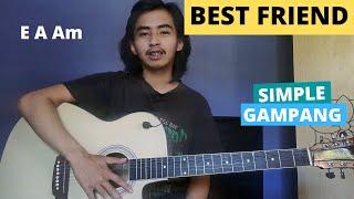CHORD SIMPLE GAMPANG (Best Friend - Rex Orange County) (Tutorial Gitar) Mudah!