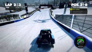 Snowy Race Off - DiRT Showdown Gameplay (Xbox 360)
