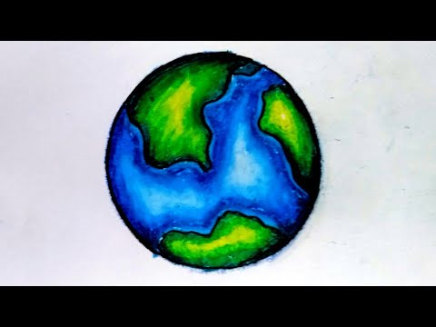 How to draw and color our globe using oil pastel#for beginner and kids