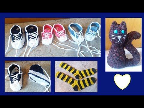 Häkeln / Stricken : Babyschuhe, Socken, Amigurumi, Topflappen