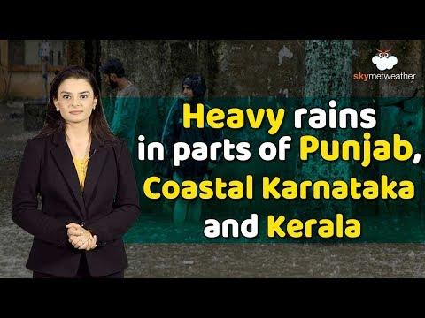 Monsoon Forecast For July 15:Good Monsoon Rains In Punjab, Coastal Karnataka And Kerala
