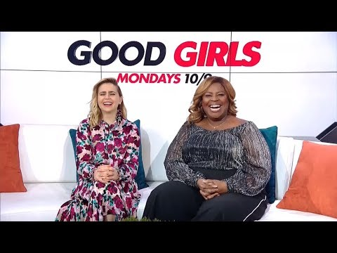 With Mae Whitman & Rhetta for GOOD GIRLS