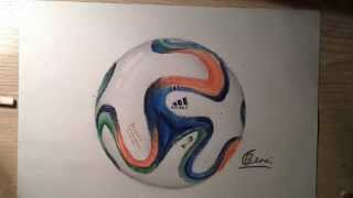 Drawing FIFA World cup 2014 ball | Timelapse |