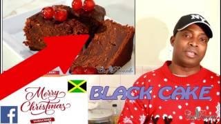 Jamaican Black Cake OR Caribbean Fruit Cake For CHRISTMAS RECIPE ***