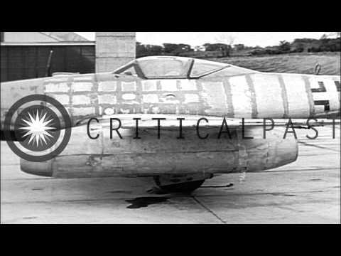 Captured Messerschmitt 262 (Me 262) demonstrated in 1947.