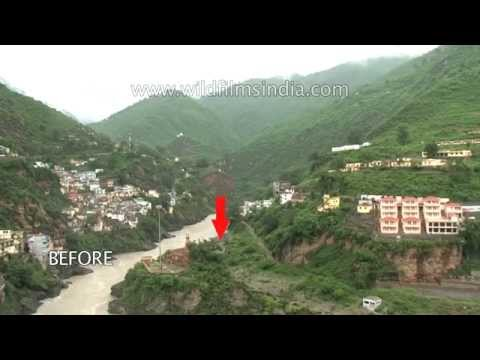 Devprayag town - Before and After the Floods | The Best of India