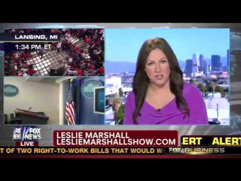 "Union Protestors at MI State Capitol - Leslie Marshall on Megyn Kelly's ""America Live"" 12/11/12"