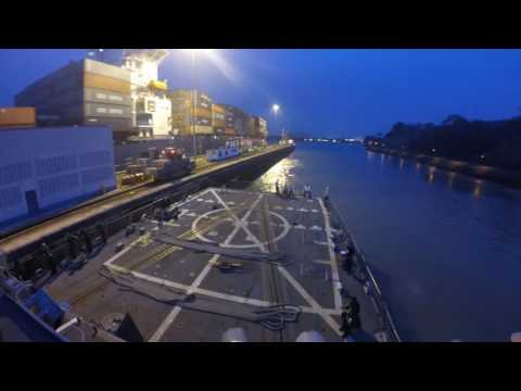 Panama Canal Transit USS LASSEN (DDG 82) - May 2016