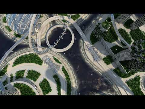 concept future city skyline. Futuristic business vision concept