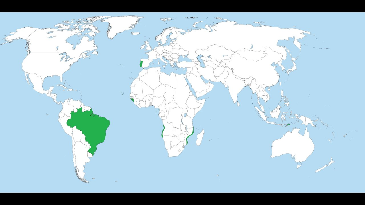 Rise And Fall Of The Portuguese Empire YouTube - Portugal on map