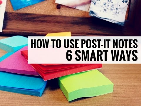 6 Smart Ways to Use Sticky Notes // Post-It Notes Techniques