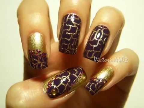 Nail Art Designs 57 Abstract Pastel Dark Dramatic Nails Youtube