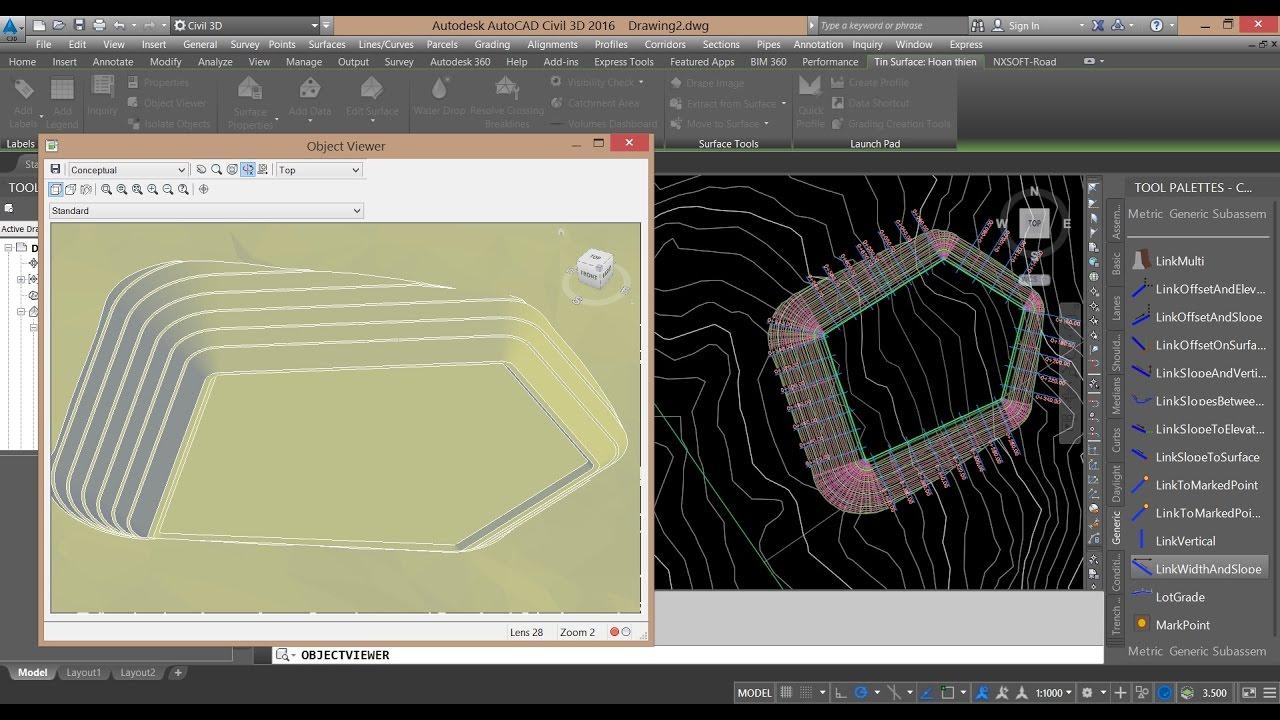 NXsoft & Civil 3D – Lesson 005: Làm mái taluy giật cơ – giật cấp cho lô đất bằng Civil 3D