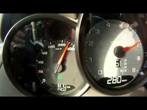 New Porsche Cayman S 0-290 km/h on snow 2013