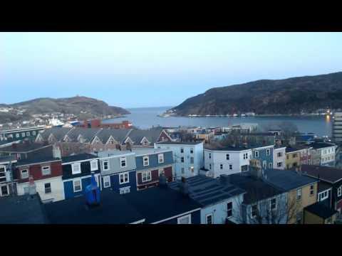 Overcast-Blue Sky-Sunset - The Narrows St. John's Newfoundland