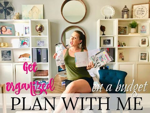PLAN WITH ME// GET ORGANIZED ON A BUDGET // HOW TO BE A MORE PRODUCTIVE MOM