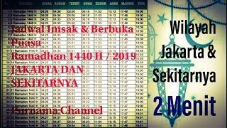 Gambar cover Jadwal Imsak Berbuka Puasa 2019 wilayah jakarta ; Ramadhan 1440 H