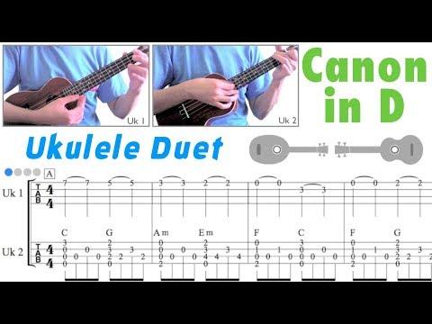 Canon in D (C major) / Pachelbel (Ukulele Duet)