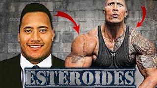 Transformación de Dwayne Johnson (La Roca) Antes y después de las hormonas prohibidas