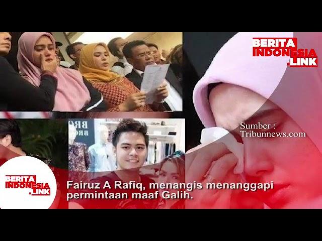 Fairuz A Rafiq menangis menanggapi permintaan Maaf mantan Suaminya Galih Ginanjar.