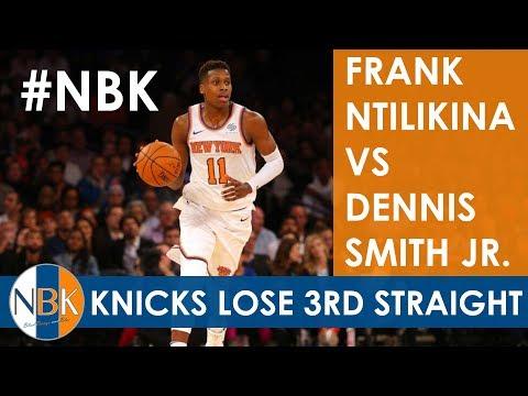 New York Knicks Live Postgame: Frank Ntilikina vs. Dennis Smith Jr.; 3rd Straight Loss; NYK vs DAL