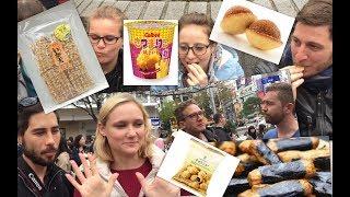 外国人が日本のお菓子食べてみたin渋谷(foreigners try japanese candy)