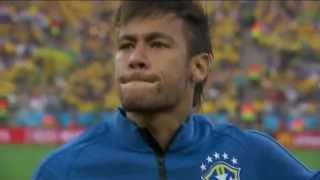 Torcida canta o hino junto com a seleção brasileira e emociona - Copa do Mundo FIFA Brasil 2014 [HD]